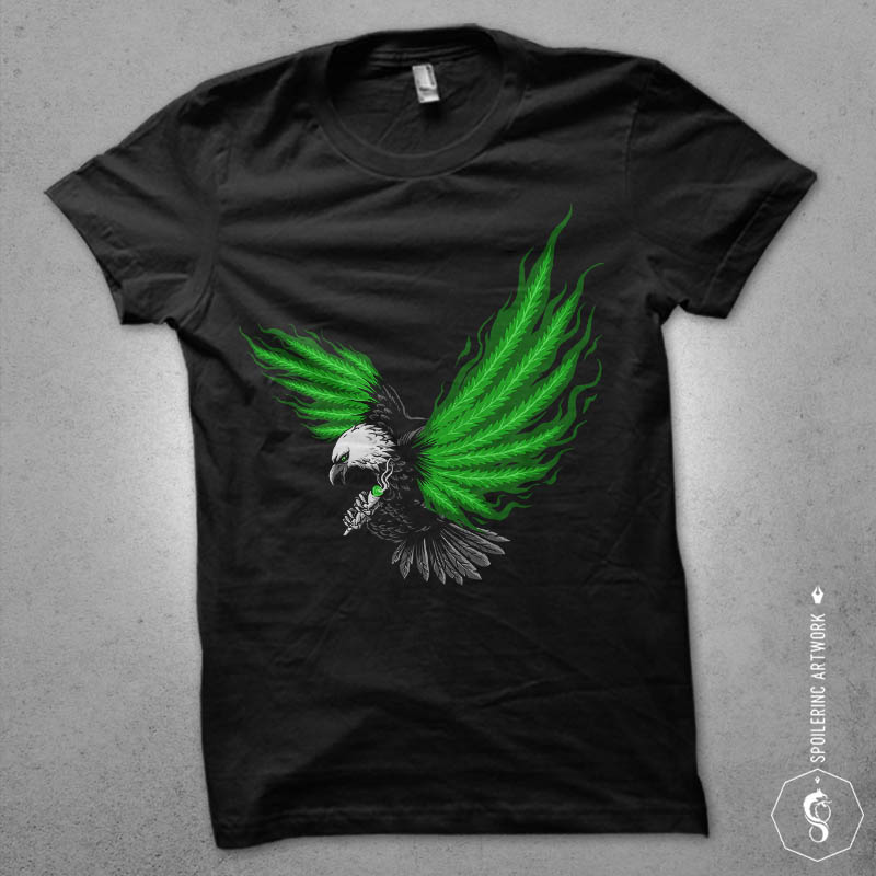 flying hunter Graphic t-shirt design vector shirt designs
