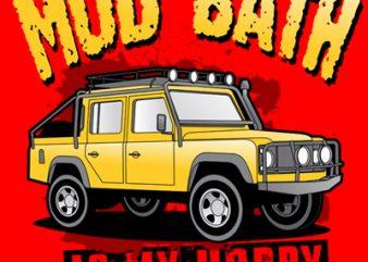 MUD BATH t shirt designs for sale