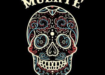 los muertos tshirt design