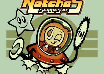NOTCHES vector t-shirt design template
