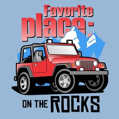 ON THE ROCK buy t shirt design artwork