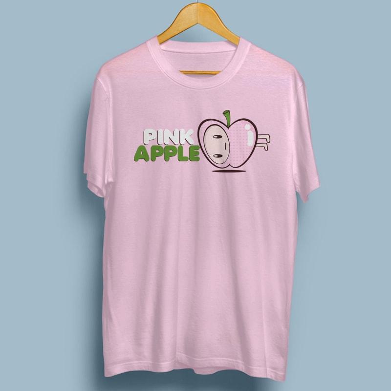 PINK APPLE buy tshirt design