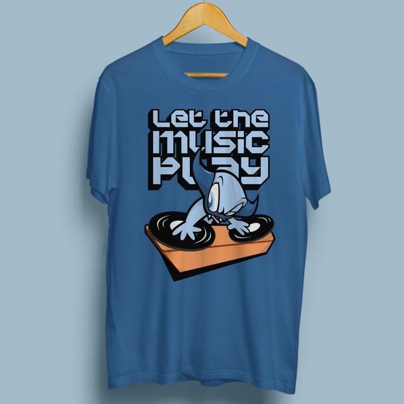 LET THE MUSIC PLAY vector t shirt design