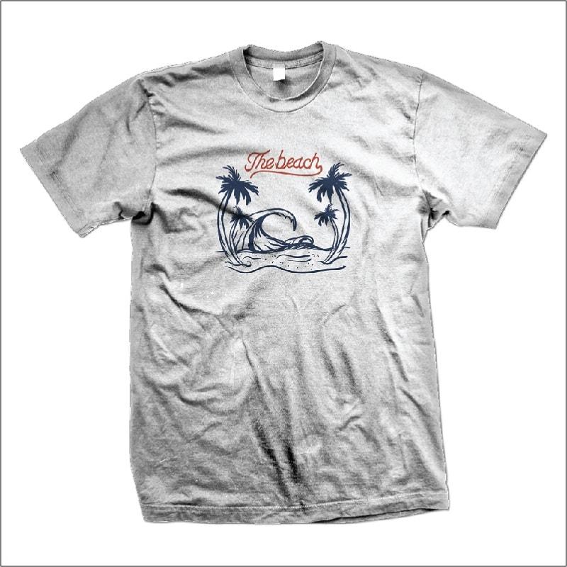 The Beach t shirt designs for merch teespring and printful