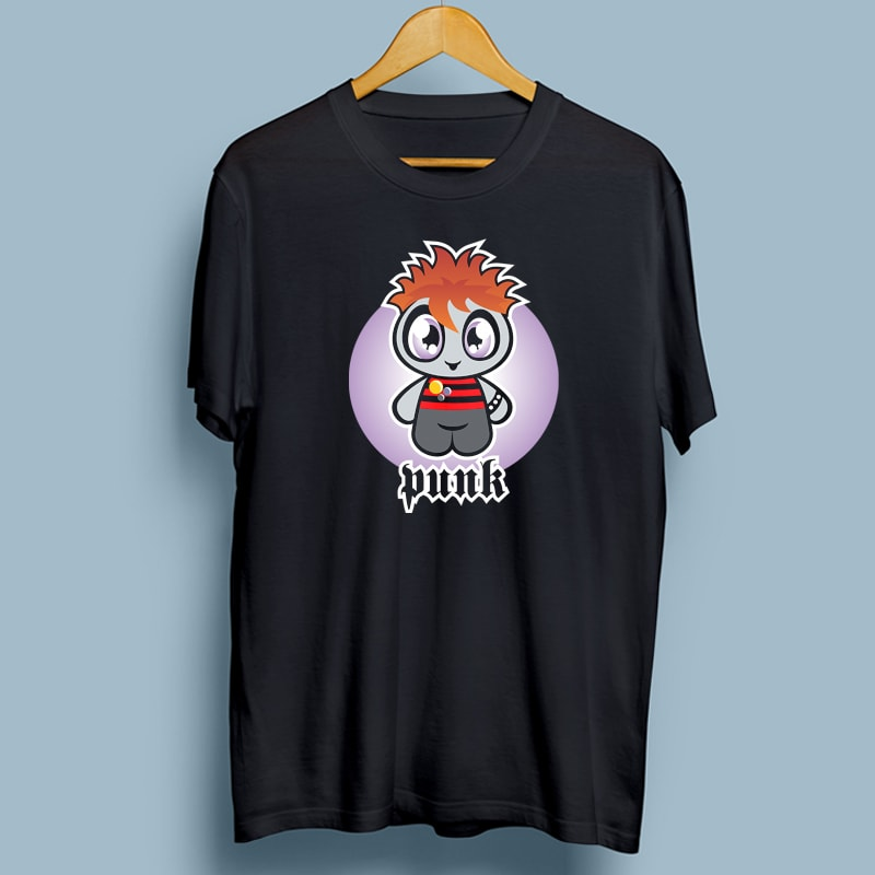 PUNK vector t shirt design