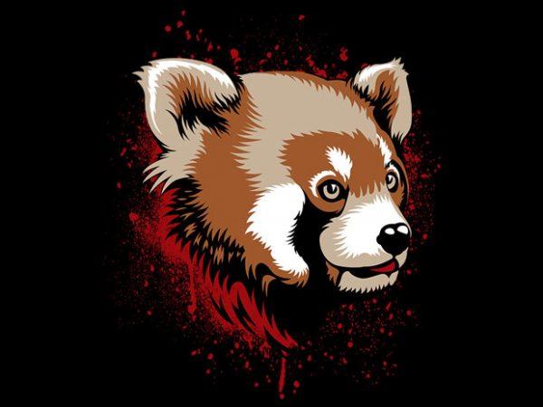 Red Panda t shirt design online
