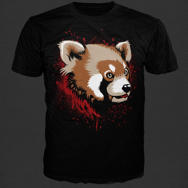 Red Panda vector shirt designs