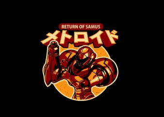 return of samus t shirt design online