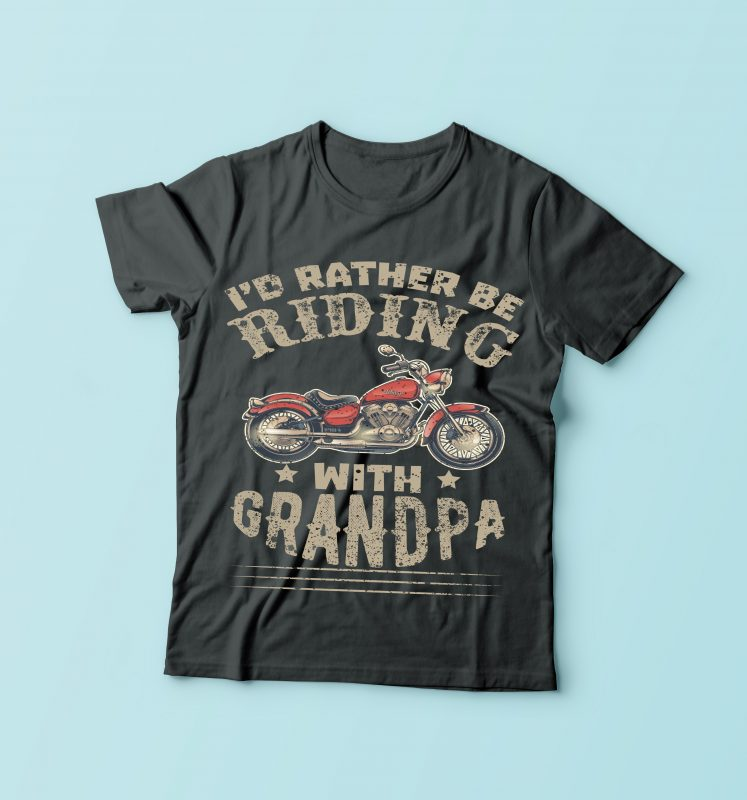 I'd Rather Be Riding commercial use t shirt designs
