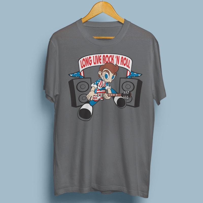 ROCK N ROLL vector t shirt design