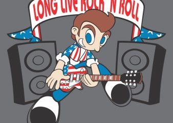 ROCK N ROLL tshirt design vector