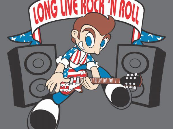 ROCK N ROLL t shirt design online
