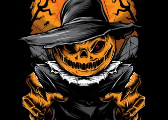 Scary Scarecrow t shirt template vector