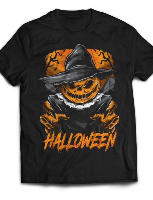 Scary Scarecrow t shirt designs for print on demand