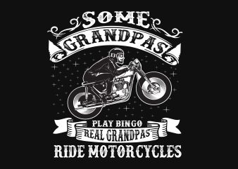 Some Grandpa t shirt template vector