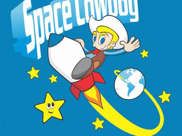 SPACE COWBOY vector t-shirt design template