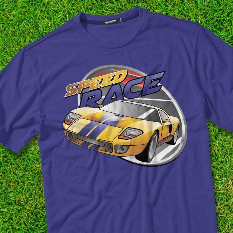 SPEED RACE t shirt designs for merch teespring and printful
