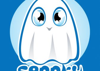 SPOOKY t shirt template vector