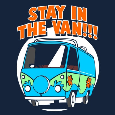 STAY IN THE VAN print ready vector t shirt design