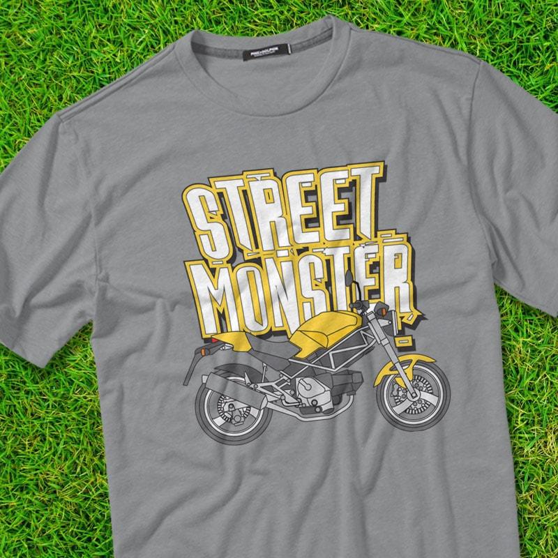 STREET MONSTER t shirt designs for teespring