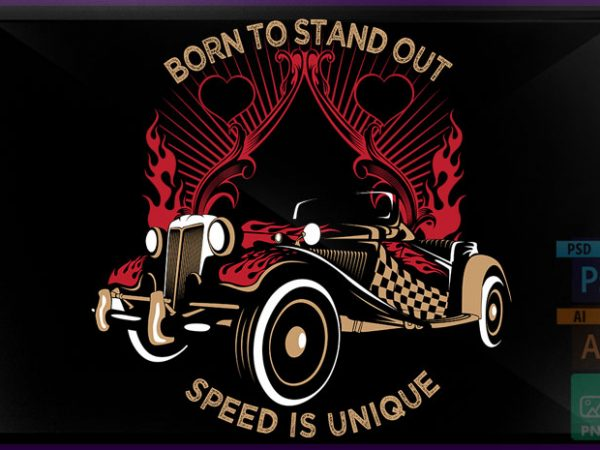 Speed Exciting t shirt template vector