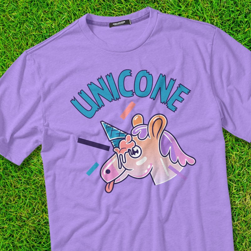 UNICONE t shirt designs for merch teespring and printful