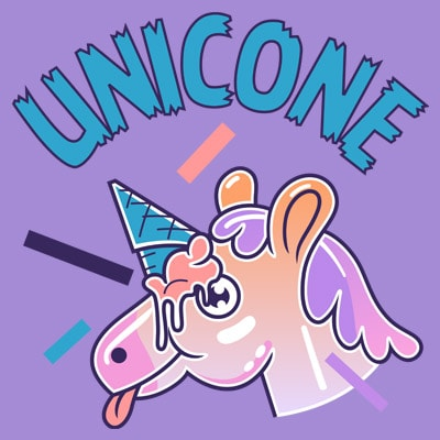 UNICONE vector t-shirt design for commercial use