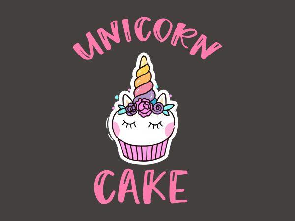 Unicorn Cake buy t shirt design artwork