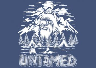 untamed vector t-shirt design for commercial use