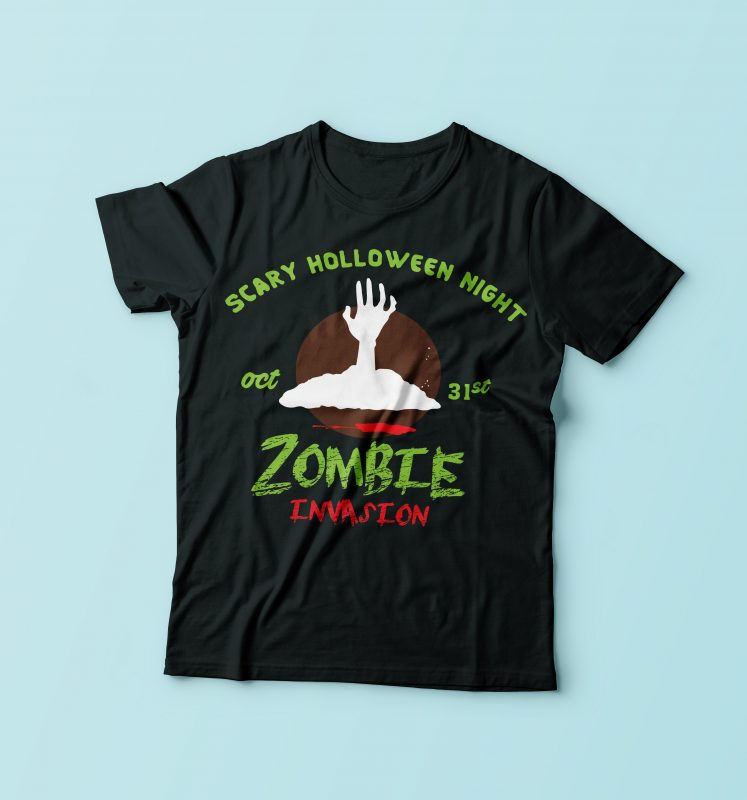 Zombie Invasion t shirt designs for teespring
