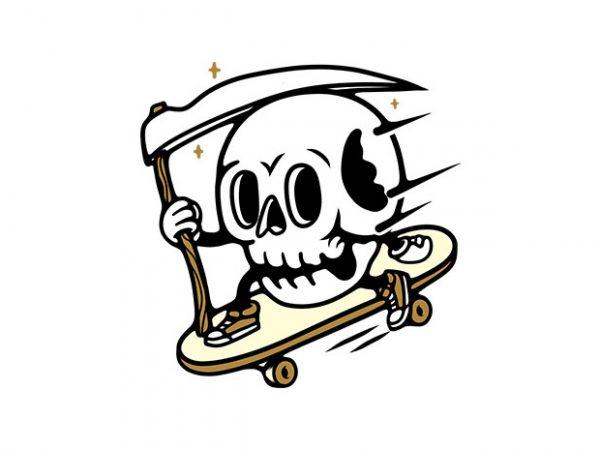 Skullboarding t-shirt design png