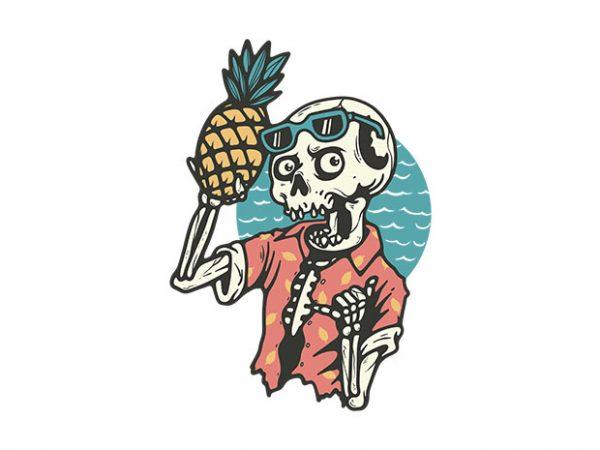 Pineapple Lover t shirt illustration