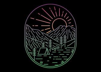 Great Sunrise buy t shirt design artwork