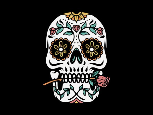 Mexican Skull t shirt designs for sale