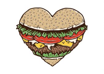 Hamburger Lover shirt design png