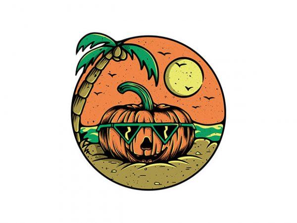 Pumpkin Summer t shirt design png