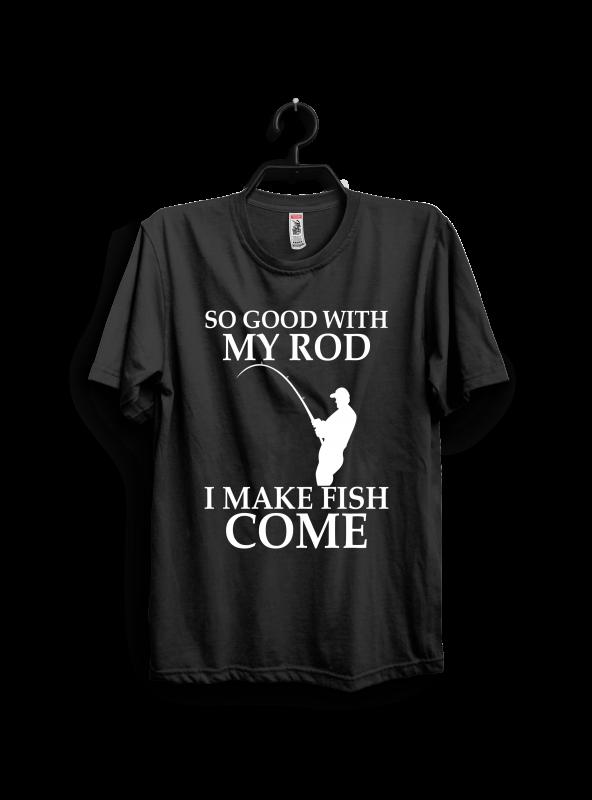 I make fish come buy t shirt design