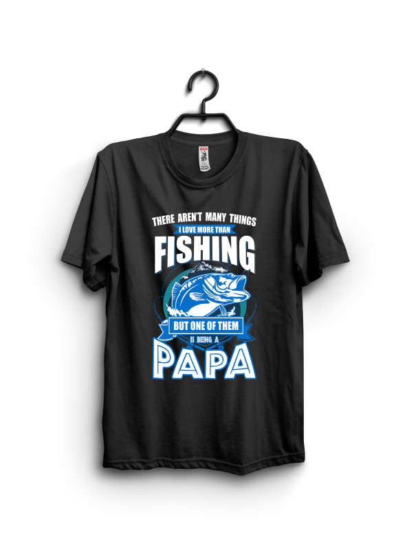 Papa fishing t shirt designs for print on demand