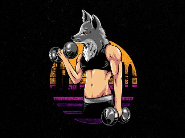 fox gym Graphic t-shirt design