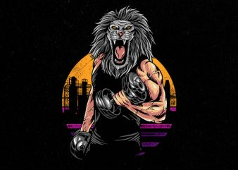 lion gym Graphic t-shirt design