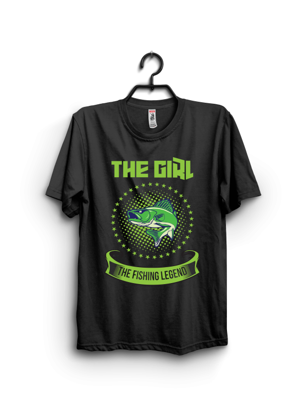 The Girl The Fishing Legend buy t shirt designs artwork