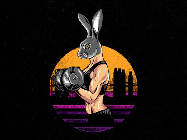 rabbit gym Graphic t-shirt design