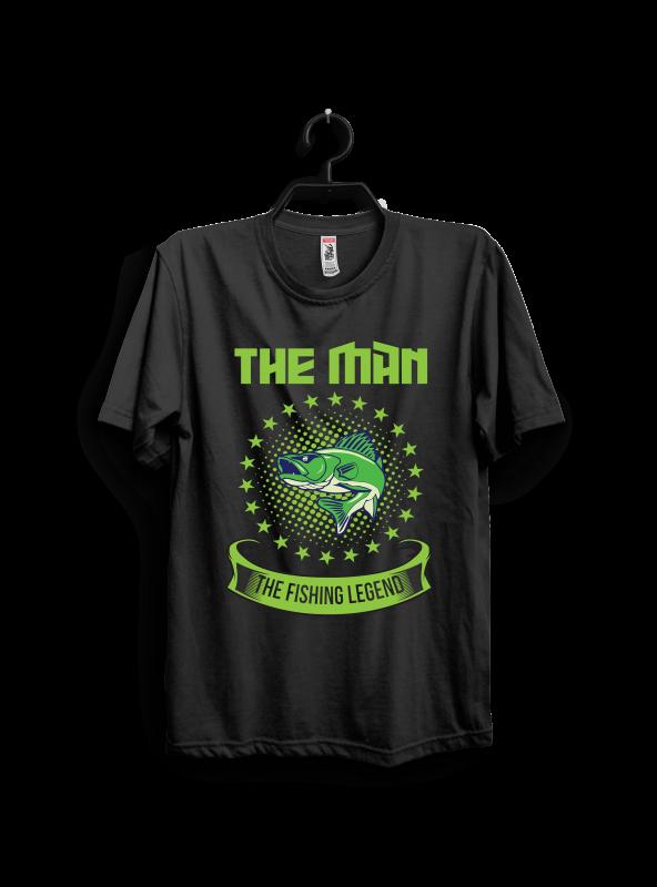 The Man The Fishing Legend buy t shirt designs artwork