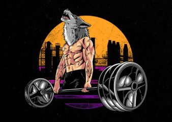 wolf gym Graphic t-shirt design