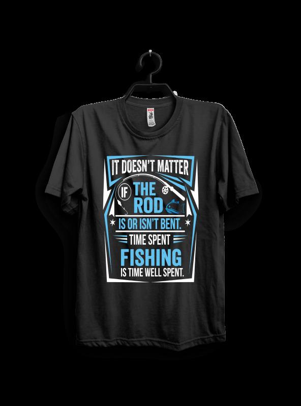 Time Spent Fishing buy t shirt designs artwork