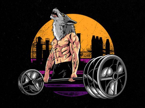 wolf gym Graphic t-shirt design