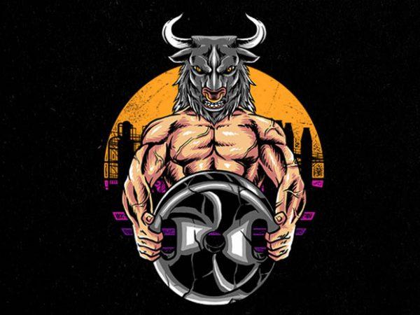 bulls gym Graphic t-shirt design