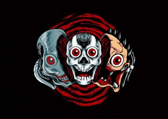 double slasher Graphic t-shirt design