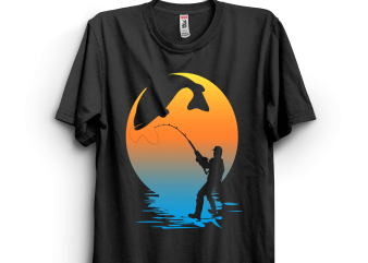 Fishing artwork t shirt design for purchase