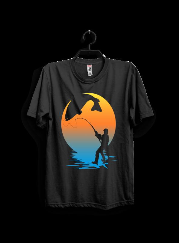 Fishing artwork vector t shirt design